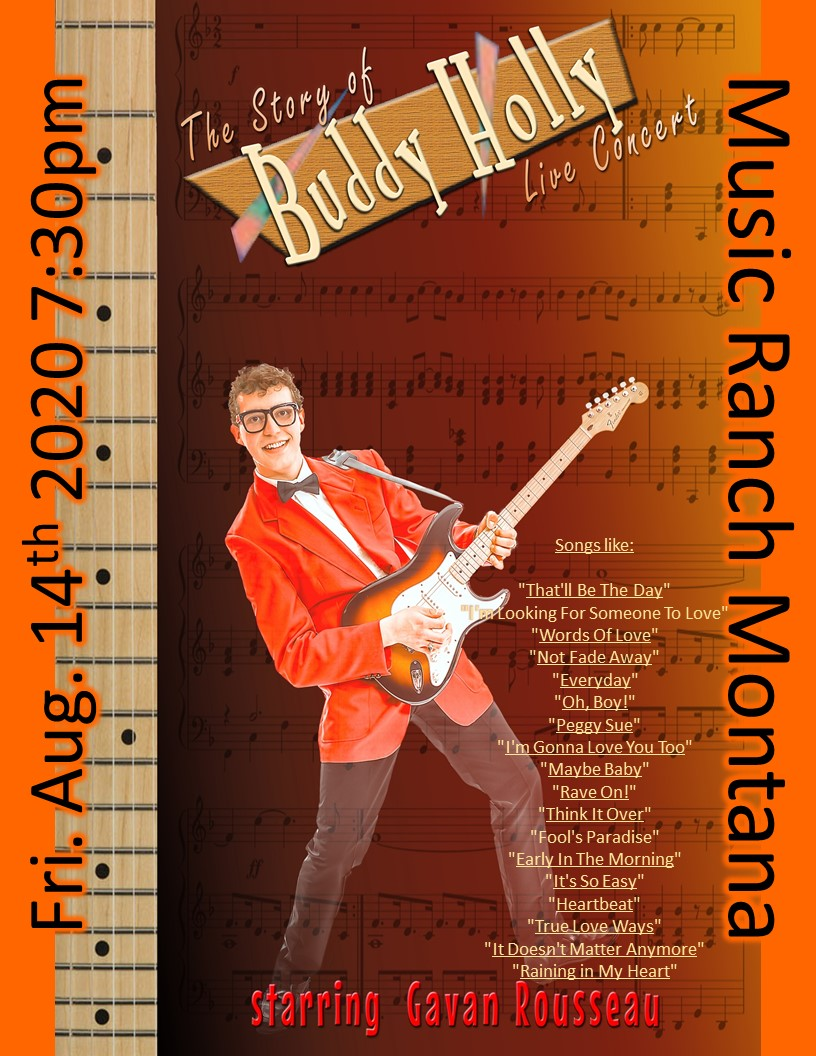 Buddy Holly Tribute Poster