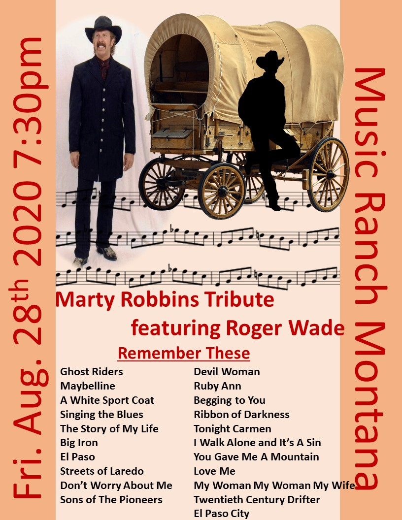 Roger Wade Marty Robbins Tribute Poster