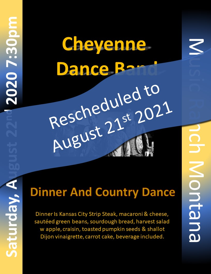 Cheyenne Dance Band Poster