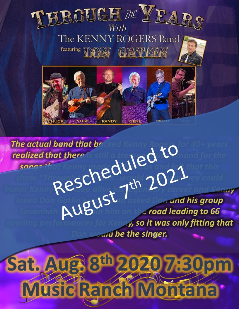 Kenny Rogers Band Poster - Moving to 2022