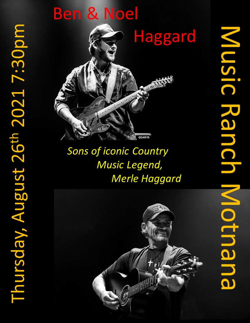 Ben & Noel Haggard Poster - Not open to the public - Live streamed only