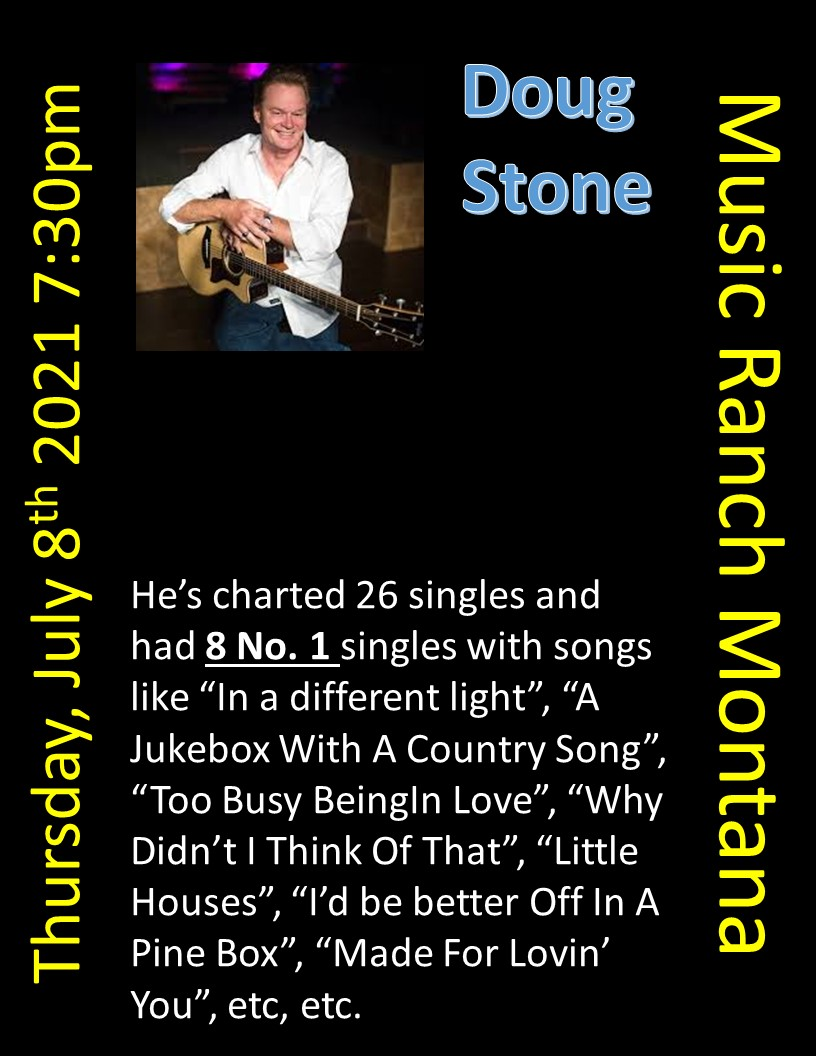 Doug Stone Poster - Not open to the public - Live streamed only