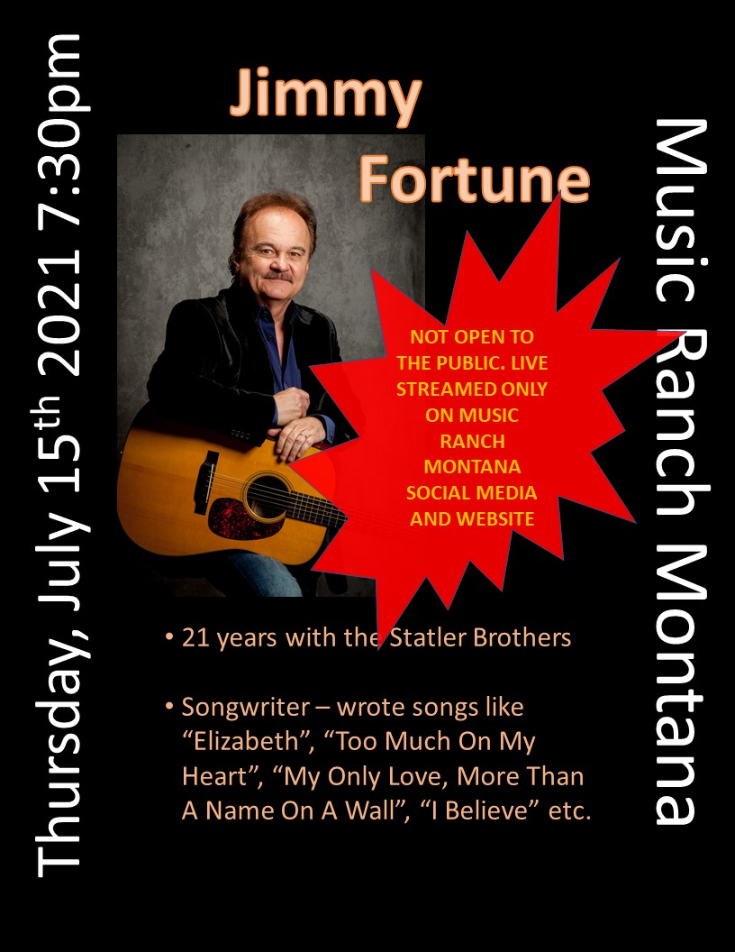 Jimmy Fortune Poster - Not open to the public - Live Streamed only