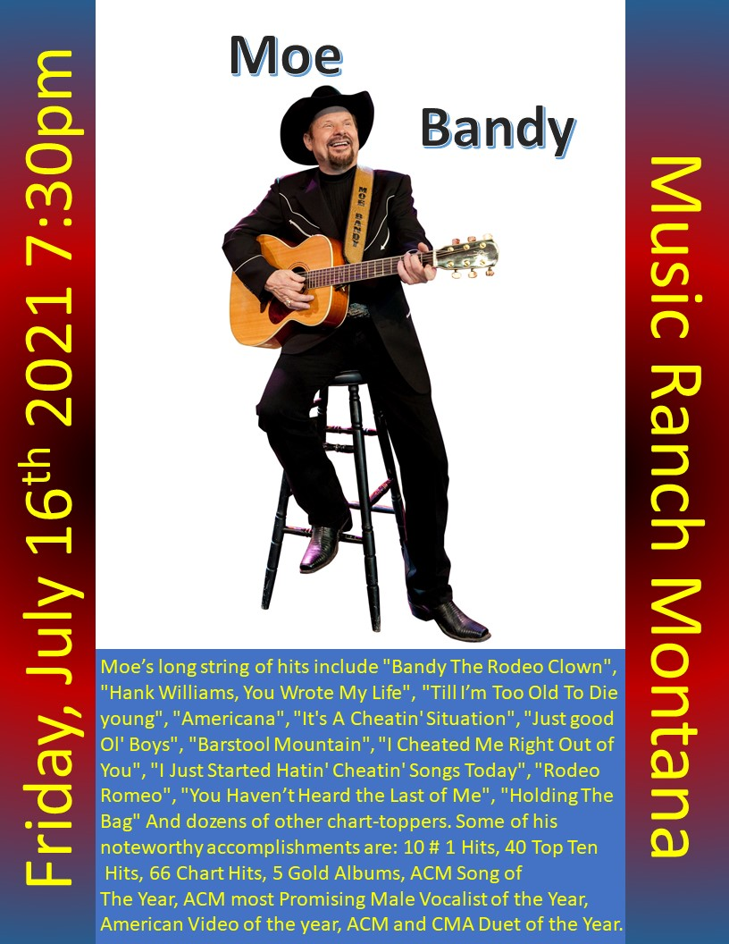 Moe Bandy Poster - Not open to the public - Live Streamed only