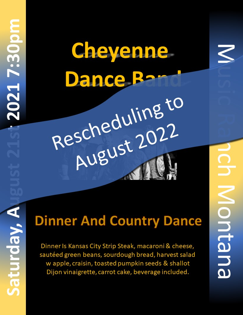 Cheyenne Dance Band Poster - Moving to 2022
