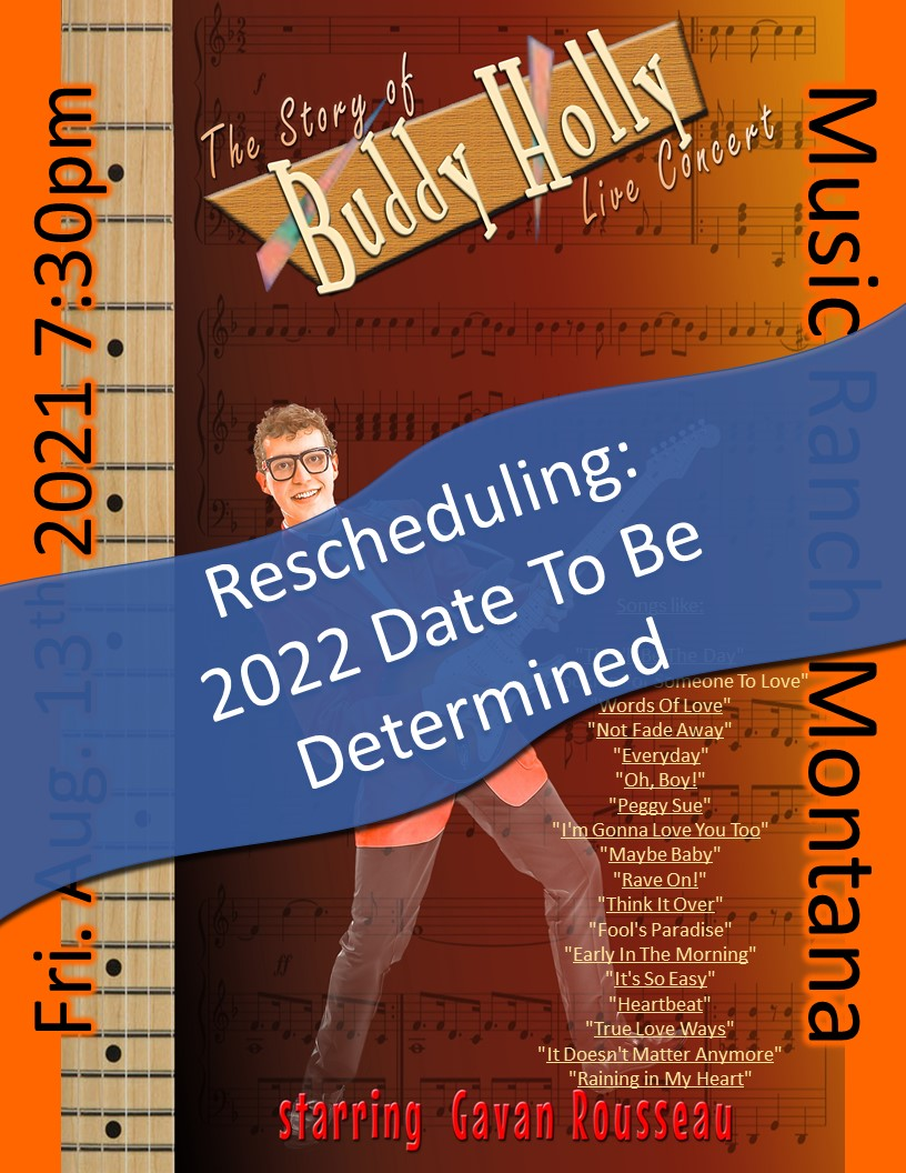 Buddy Holly Tribute Poster - Moving to 2022