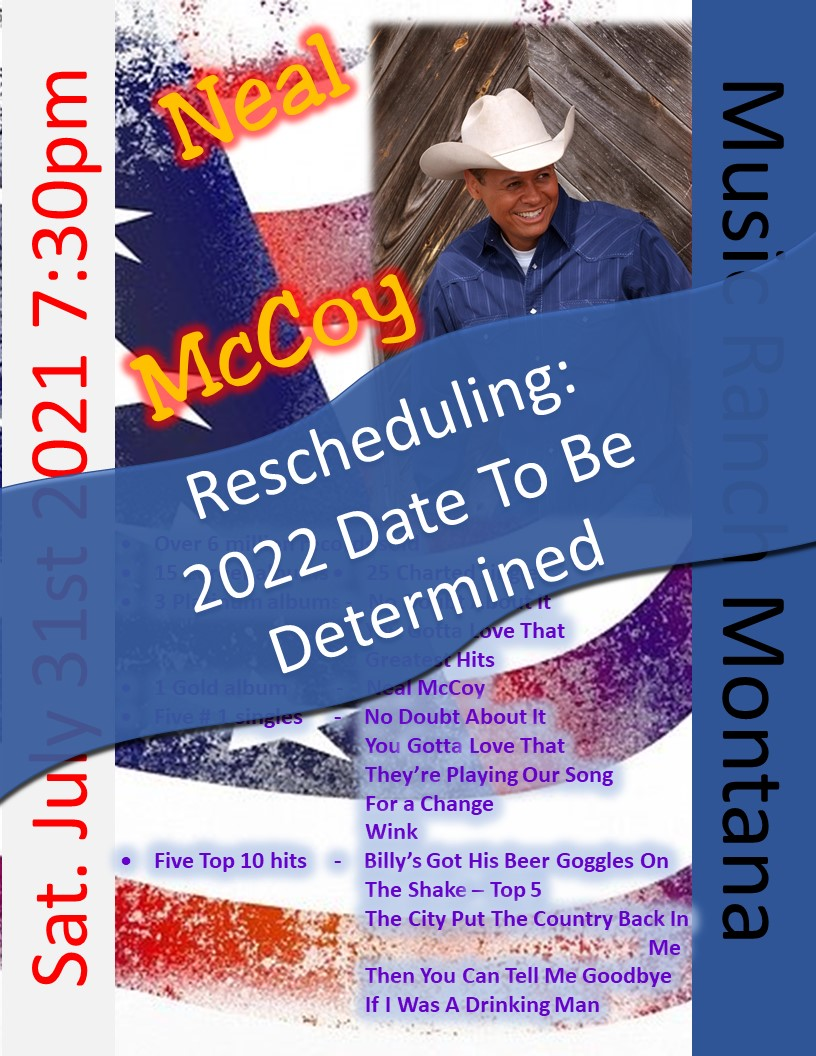 Neal McCoy Poster - Moving to 2022
