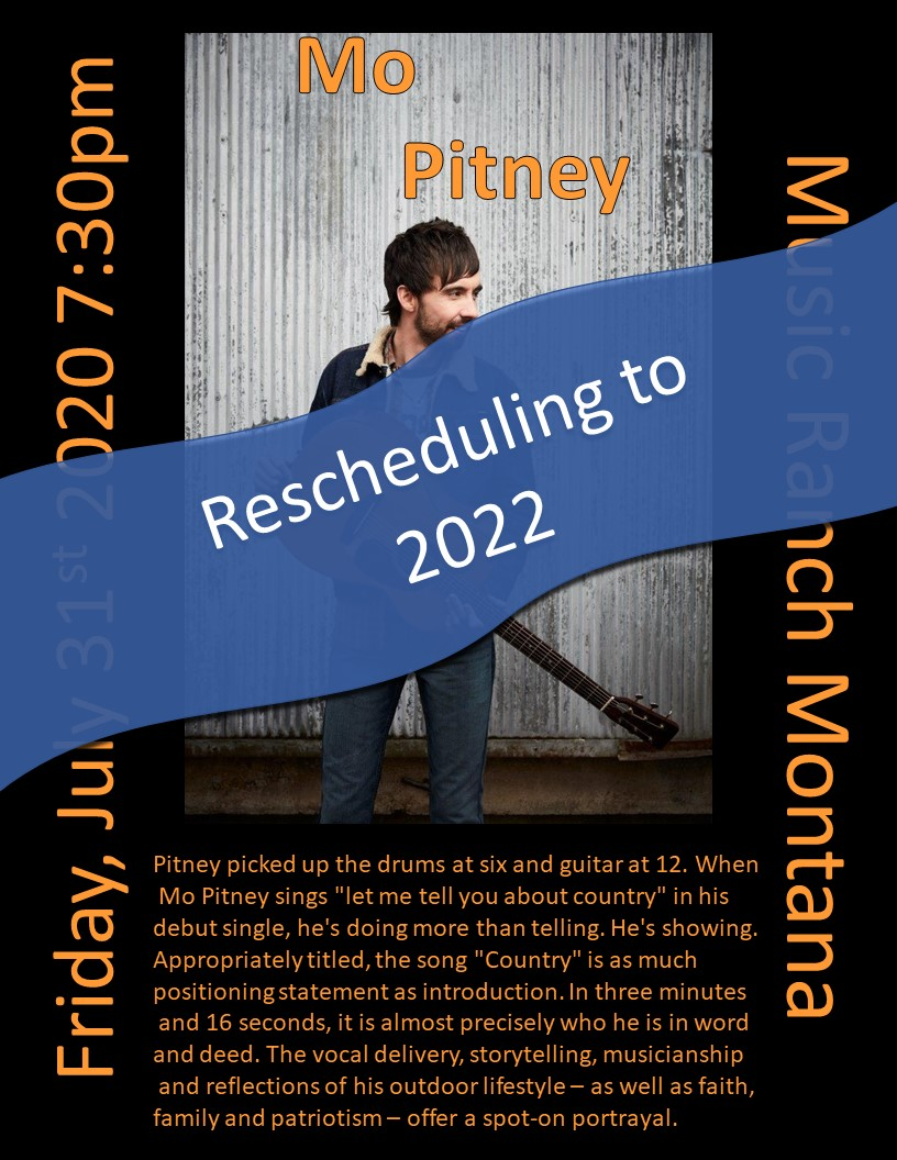 Mo Pitney Poster - Moving to 2022